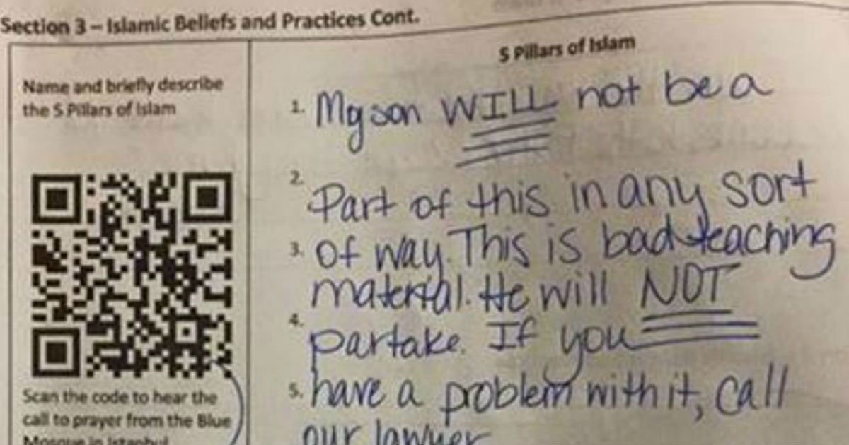 face image dsfgfds.jpg?resize=1200,630 - Mom Outraged After Seeing Son's Homework So She Wrote A Note To His Teacher