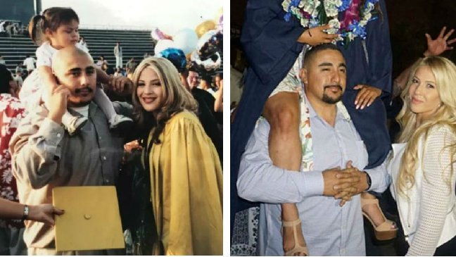 fdgdfgdfg - Toddler Took A Photo At Her Parents' Highschool Graduation. After 17 Years, She Takes It Again At Her Own Graduation