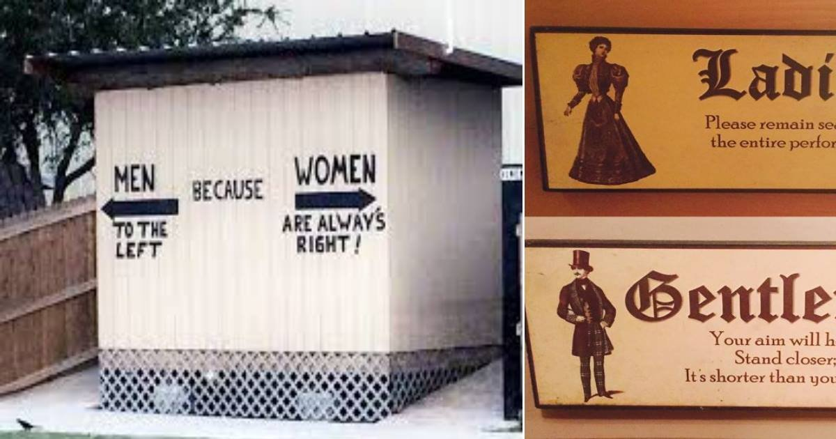Clever Bathroom Signs 16 hilarious and clever bathroom signs - small joys