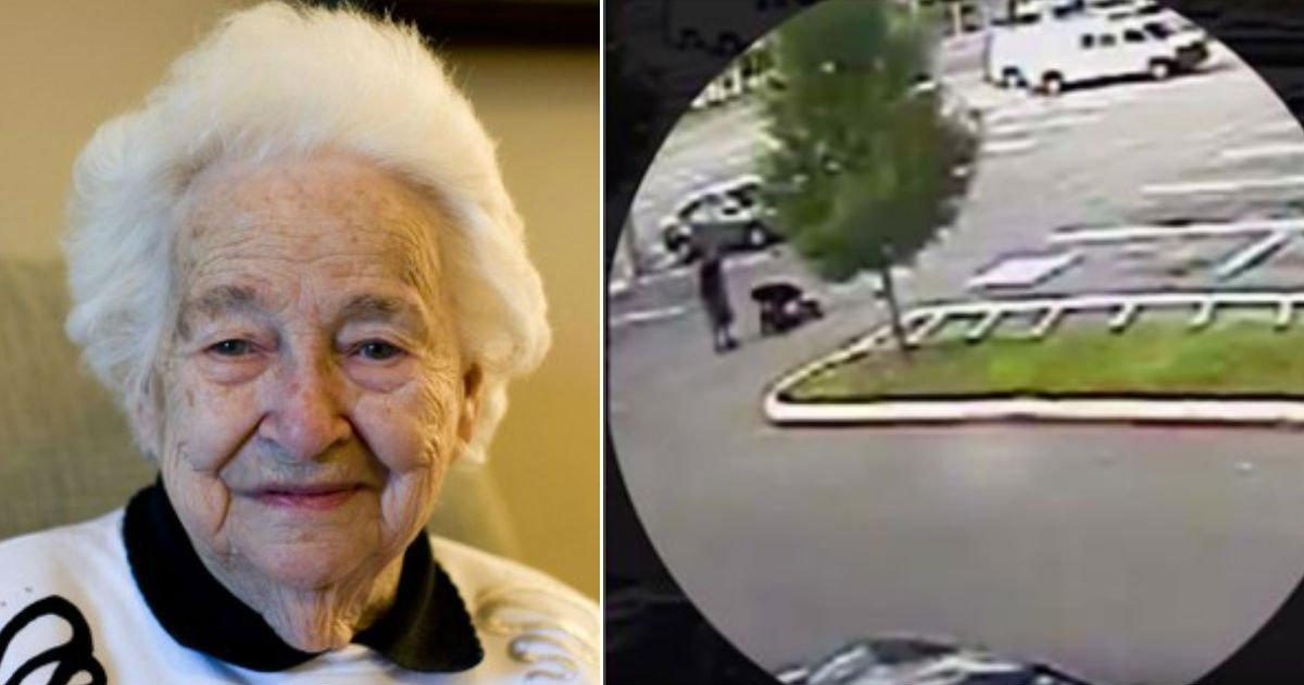 grandma threat at mall 2 1.jpg?resize=636,358 - Une grand-mère craint pour sa vie lorsqu'elle est forcée de se mettre à terre, sans savoir qu'un vétéran de l'armée est témoin de la scène.