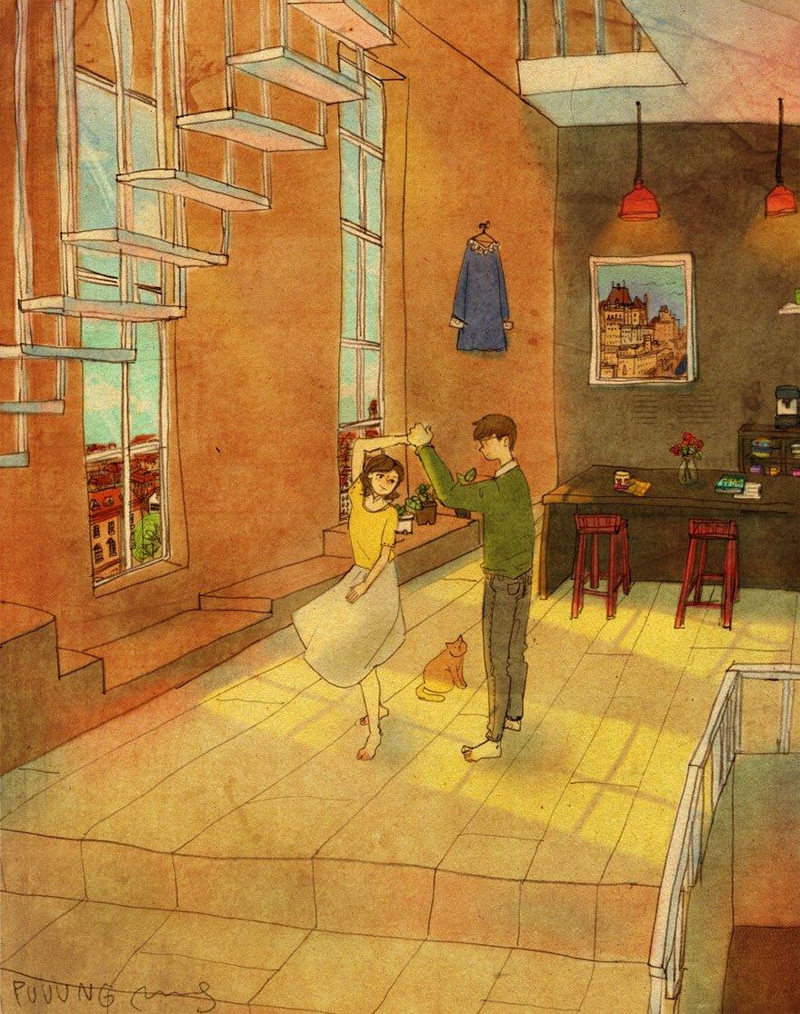 love is illustrations korea puuung 21 574fec768d8be  880 807x1024 - 소소한 일상 속에서 발견하는 '사랑'에 관한 일러스트 작품 (사진 23장)