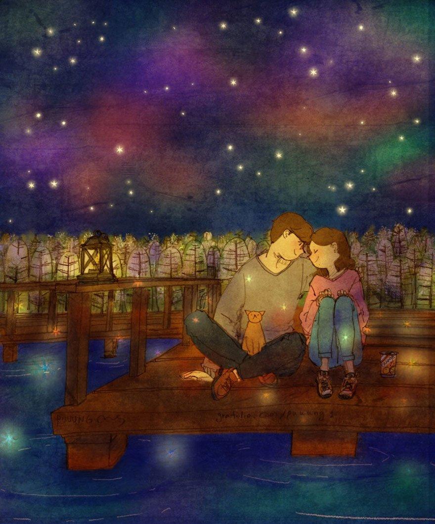 love is illustrations korea puuung 34 574fec9b60b59  880 852x1024 - 소소한 일상 속에서 발견하는 '사랑'에 관한 일러스트 작품 (사진 23장)