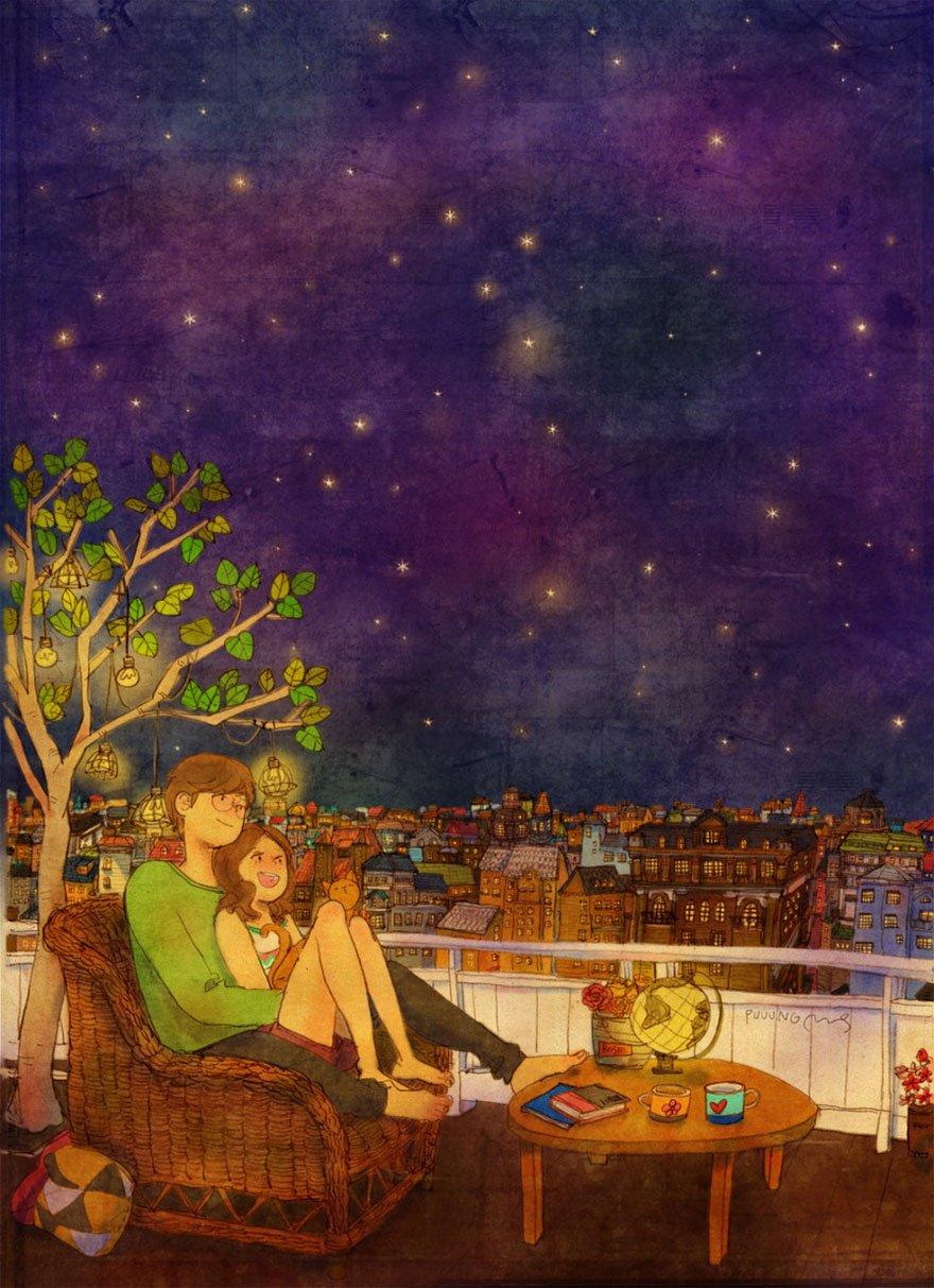 love is illustrations korea puuung 7 574fec4ab4ada  880 743x1024 - 소소한 일상 속에서 발견하는 '사랑'에 관한 일러스트 작품 (사진 23장)