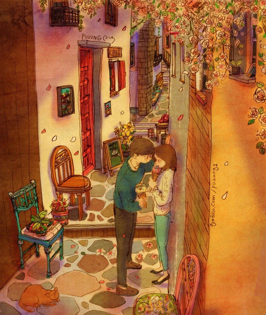 love is illustrations korea puuung 80 574fed2989545  880 865x1024 - 소소한 일상 속에서 발견하는 '사랑'에 관한 일러스트 작품 (사진 23장)