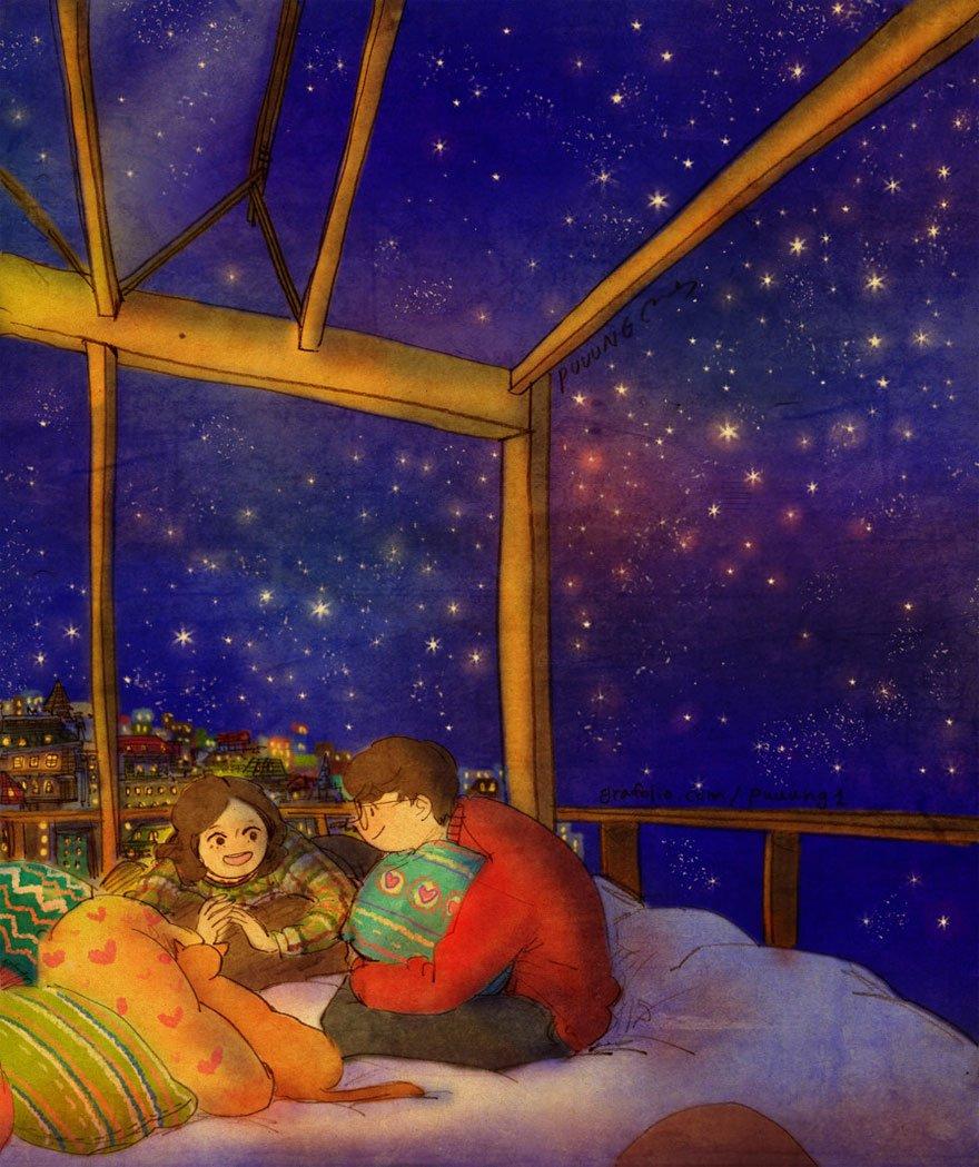 love is illustrations korea puuung 84 574fed35829f0  880 859x1024 - 소소한 일상 속에서 발견하는 '사랑'에 관한 일러스트 작품 (사진 23장)