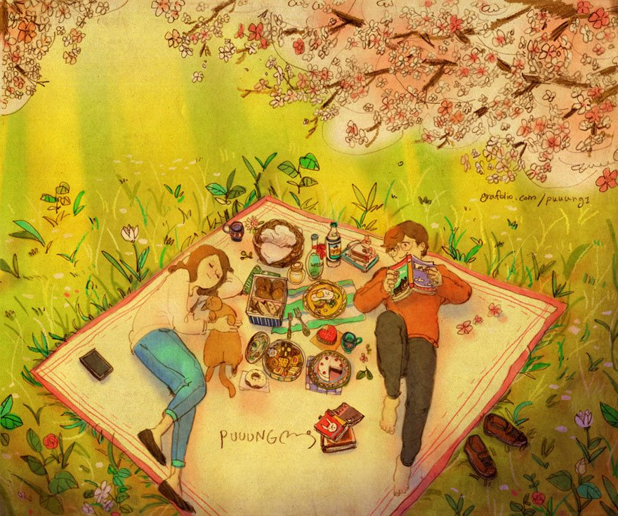 love is illustrations korea puuung 88 574fed4297165  880 - 소소한 일상 속에서 발견하는 '사랑'에 관한 일러스트 작품 (사진 23장)
