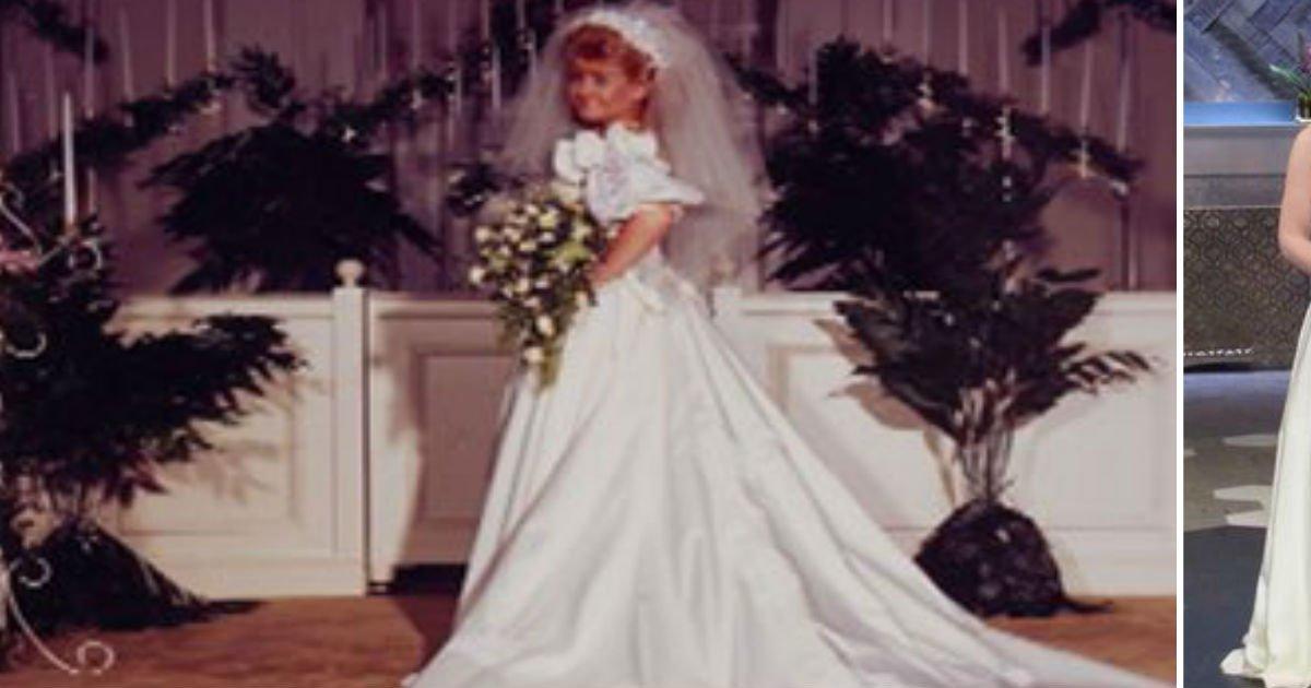 mom wedding dress.jpg?resize=636,358 - Bride Gets Mom's Old Dress. When She Grabs Scissors, Mom Immediately Breaks Down Into Tears