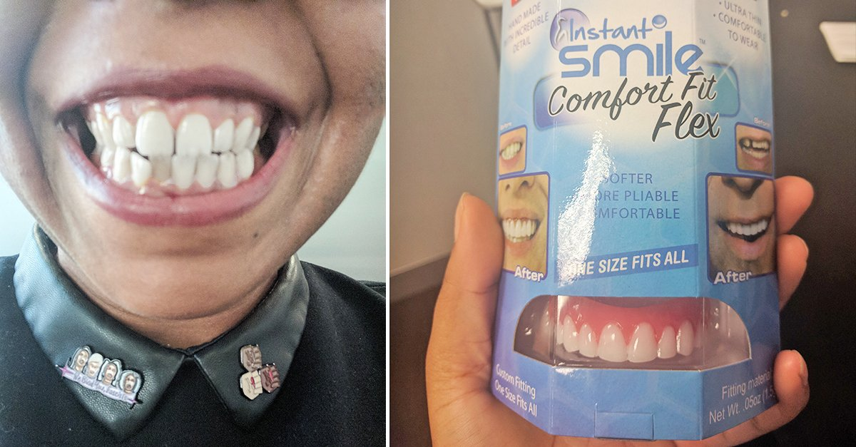 teeth thumbnail.jpg?resize=412,232 - I Tried Cheap Instant Smile Veneers To Hide My Crooked Teeth. Here's How They Changed My Face