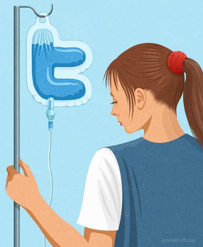 todays problems illustrations john holcroft 53 593113e6d27b2 700 - 현대 사회의 '어두운 면'을 소름끼치게 표현한 일러스트 23장