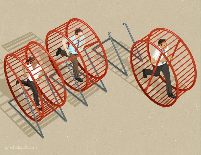 todays problems illustrations john holcroft 59 593113f399c70 700 - 현대 사회의 '어두운 면'을 소름끼치게 표현한 일러스트 23장
