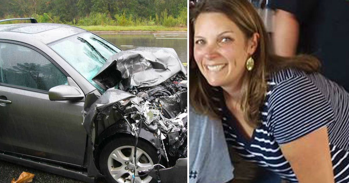 woman saves man.jpg?resize=412,232 - Man Survived Critical Car Accident Thanks To Stranger Who Wouldn't Give Up On Him