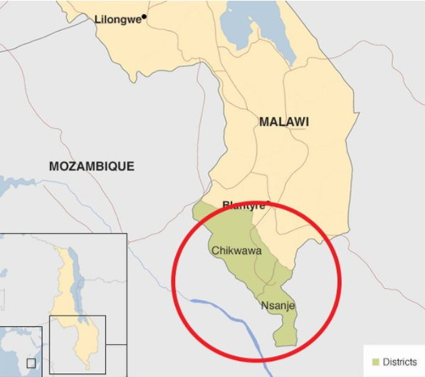 아프리카 말라위 남부에 위치한 은산제 마을/BBC