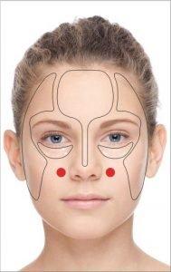 acupresion zona rostro