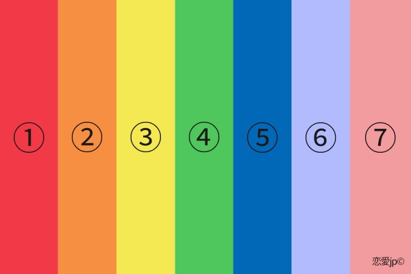 20170916021601 20170420thusayuri.png?resize=1200,630 - 「心理テスト」7つの色の中で一番好きな色は?
