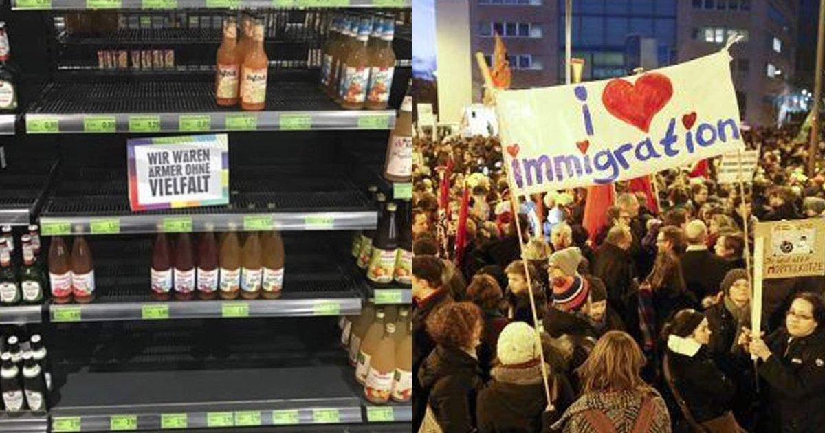 616a8b200f2e0ed5150674763f7257bd 1 - 為了讓大家正視「種族歧視」的嚴重性!德國超市把所有「國外商品」都下架了!