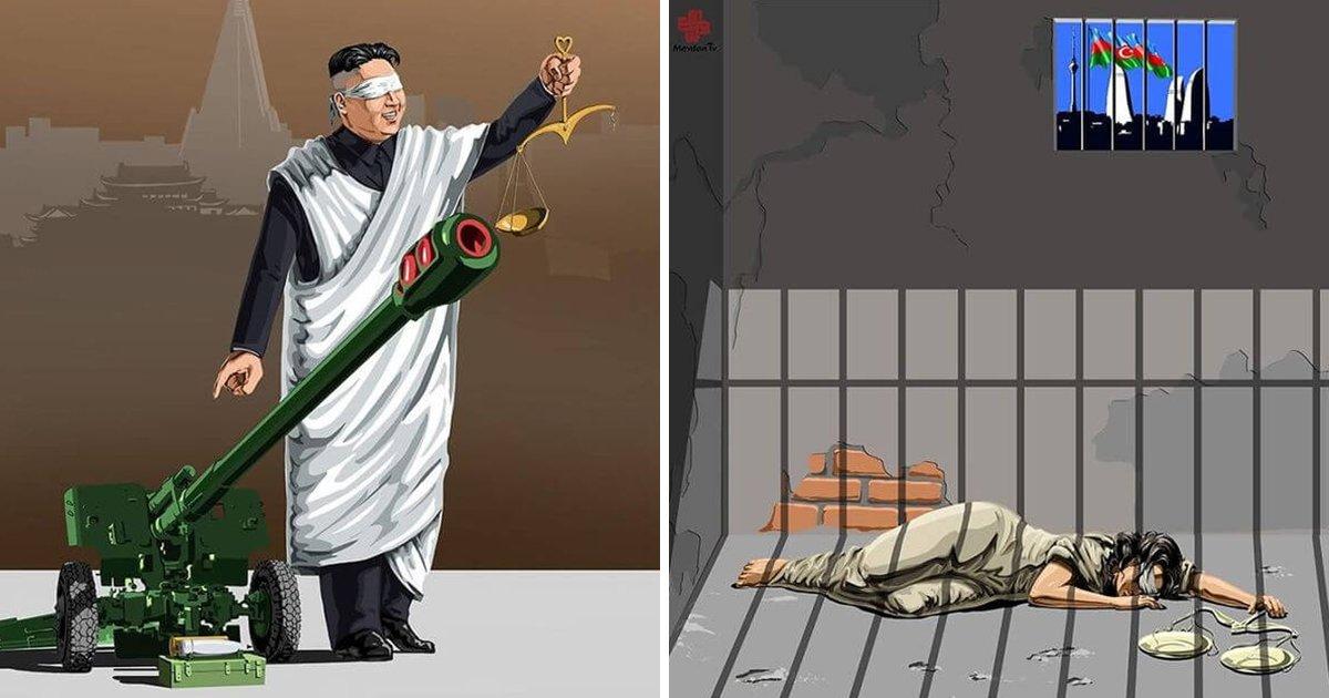 article thumbnail 45.jpg?resize=1200,630 - 세계 지도자들이 '정의'를 어떻게 다루는지 나타낸 일러스트 14장