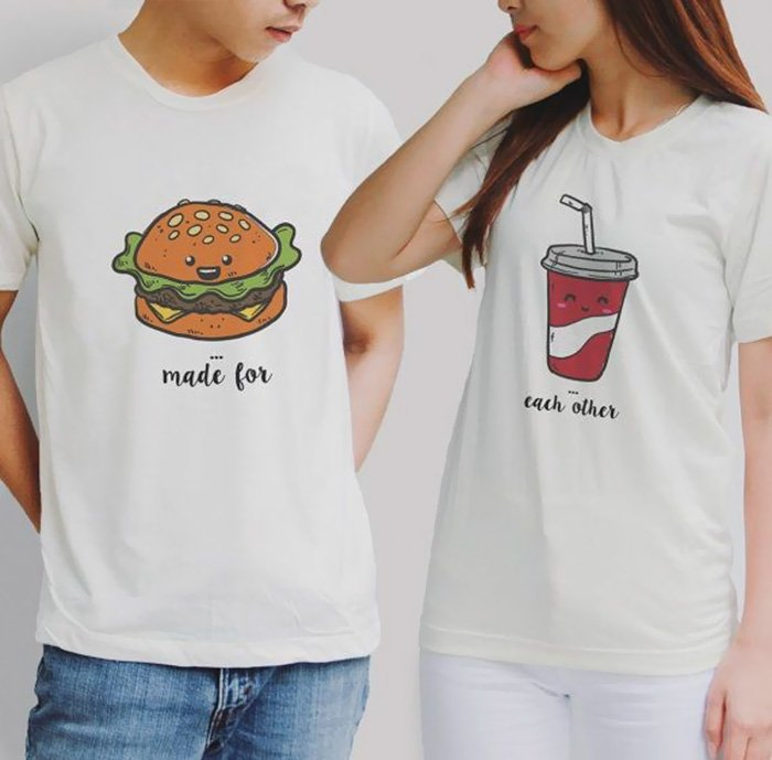 cute tshirt pairs t 16  - 10+ T-Shirts Pairs That You Will Definitely Want To Wear With Your Loved Ones