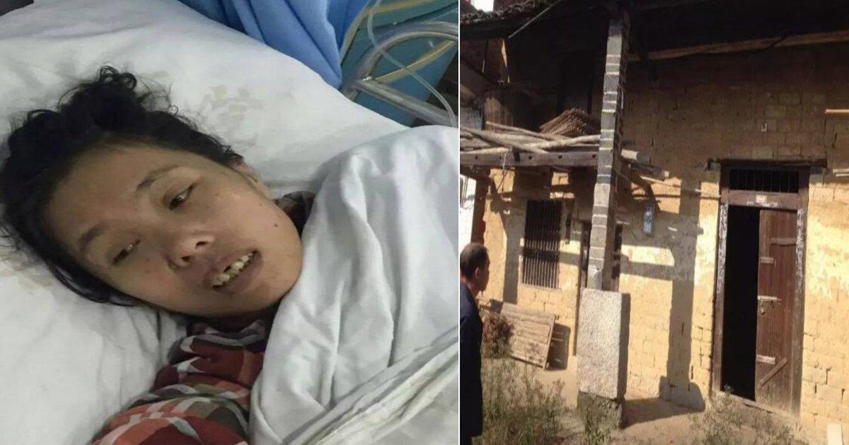 좌 : 살아난 자오의 모습, 우 : 인신매매당한 여성들이 발견된 장소, dailymail