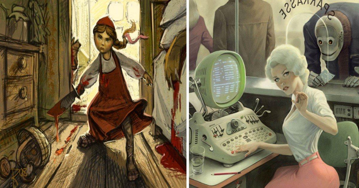 fsww - '숨겨진 사회적 메시지' 담은 러시아 일러스트레이터의 작품 (사진 15장)