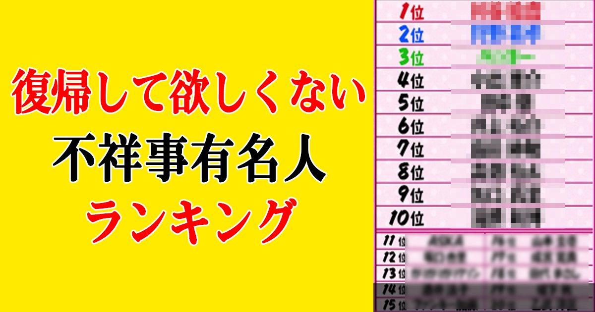 hukisuruna th.png?resize=300,169 - 「復帰して欲しくない不祥事有名人ランキング」1位はアノ人!