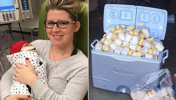 ハリケーンハービー、母乳を寄贈した女性
