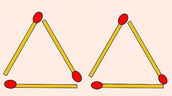img 59bf32fc32cb3.png?resize=412,232 - [クイズ]マッチを二つだけ動かして4つの三角形を作ろう!