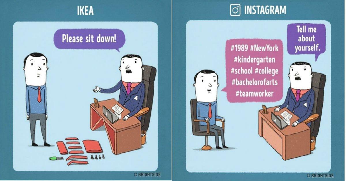 jobinterview.jpg?resize=1200,630 - 삼성, 애플 등 유명 기업들의 면접 상황을 재미있게 상상한 만화(+12)