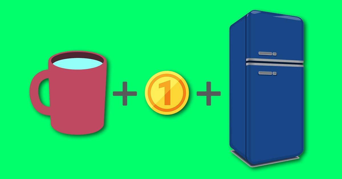 monedaytaza.jpg?resize=1200,630 - No olvides colocar una moneda en el congelador cuando salgas de tu casa por varios días.