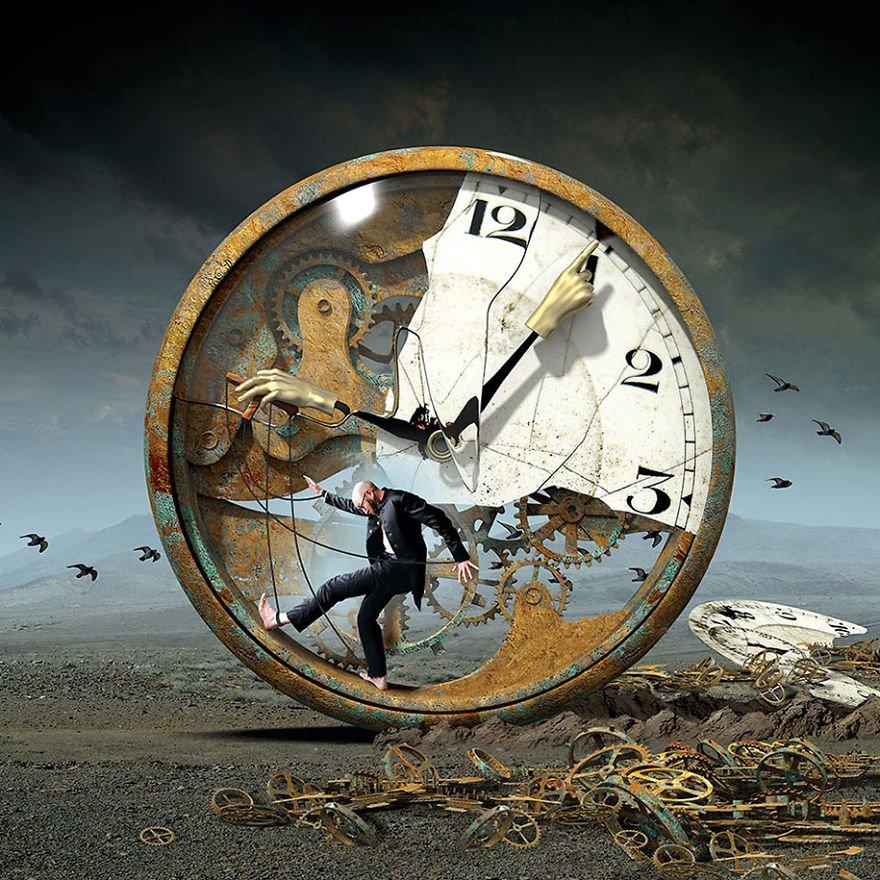 surreal illustrations poland igor morski 21 570de2e74a429  880 - 신비하고 소름돋는 '현대 사회 풍자' 일러스트 20장