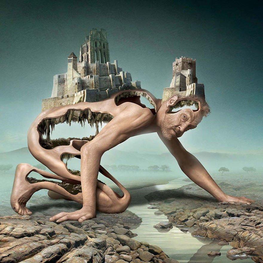 surreal illustrations poland igor morski 3 570de3427677c  880 - 신비하고 소름돋는 '현대 사회 풍자' 일러스트 20장