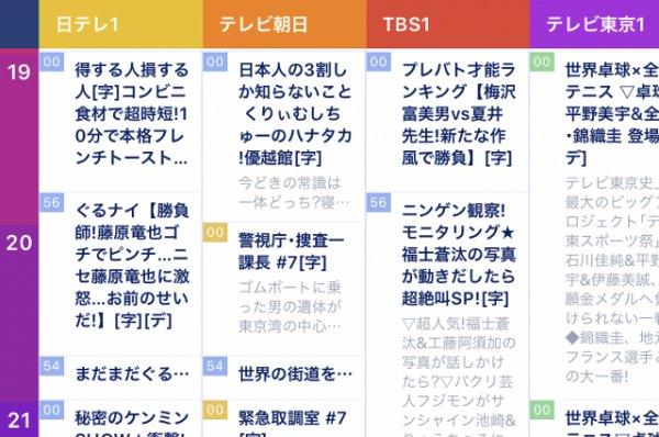 「テレビ番組表」の画像検索結果