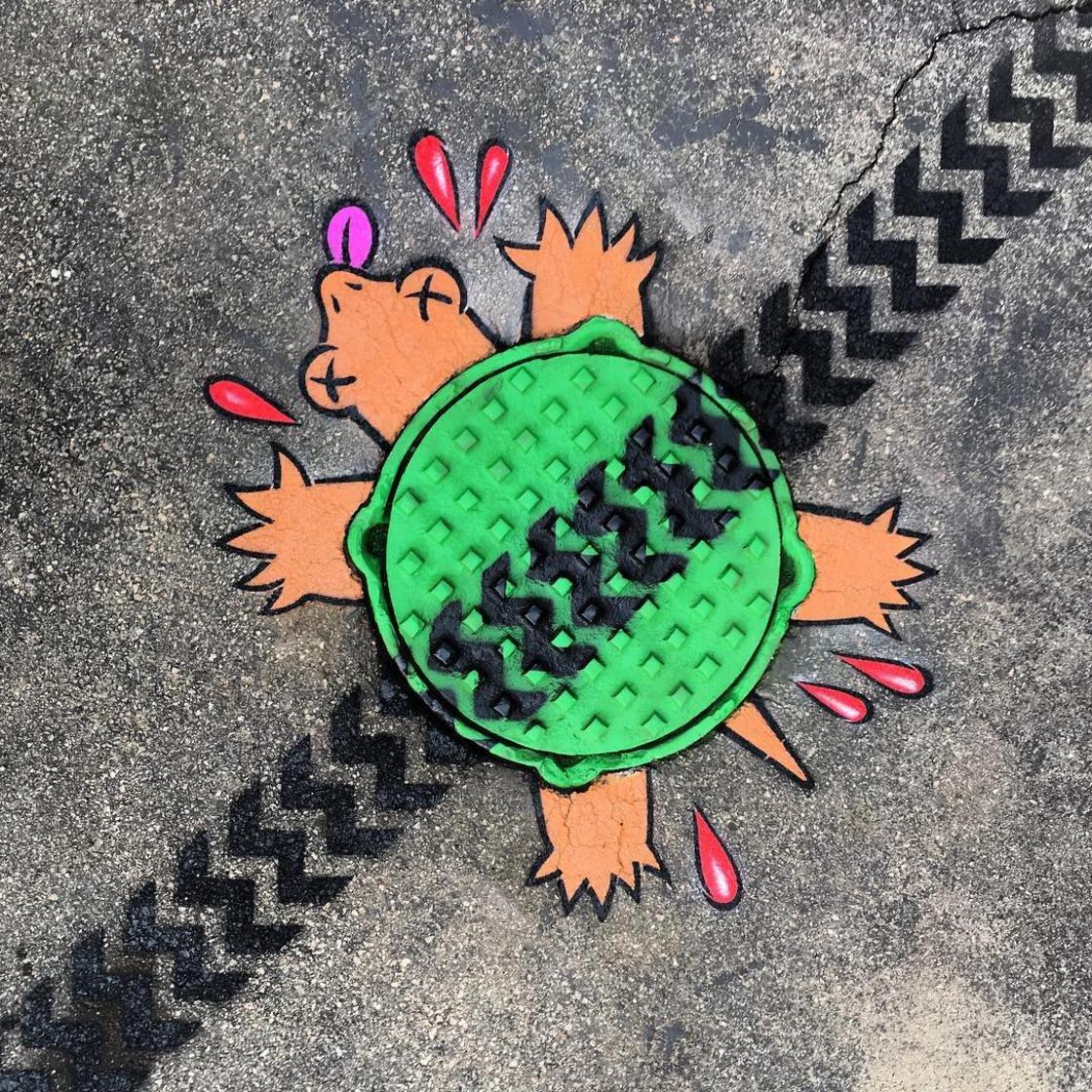 tom bob street art new york 14 1024x1024 - 뉴욕의 천재 '거리예술가' 손에 재탄생한 길거리 (사진 25장)
