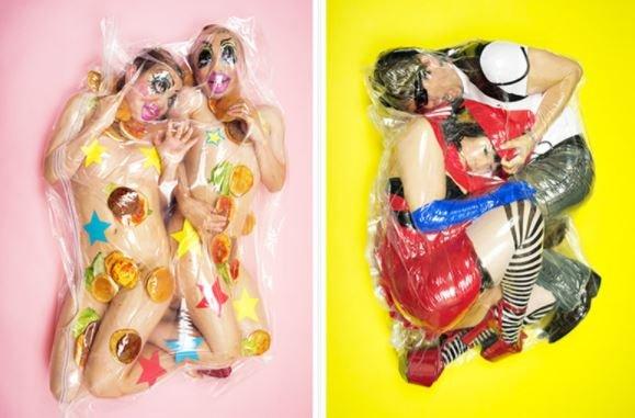 """1506568512092996 - """"딱 붙어 있을거야"""" 일본에서 화제 된 '진공 포장' 커플 사진"""