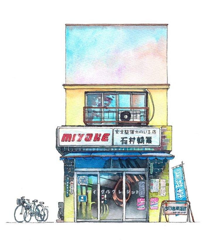 17 15 - 폴란드 작가가 수채화로 완성한 도쿄 일상 일러스트 (+25)