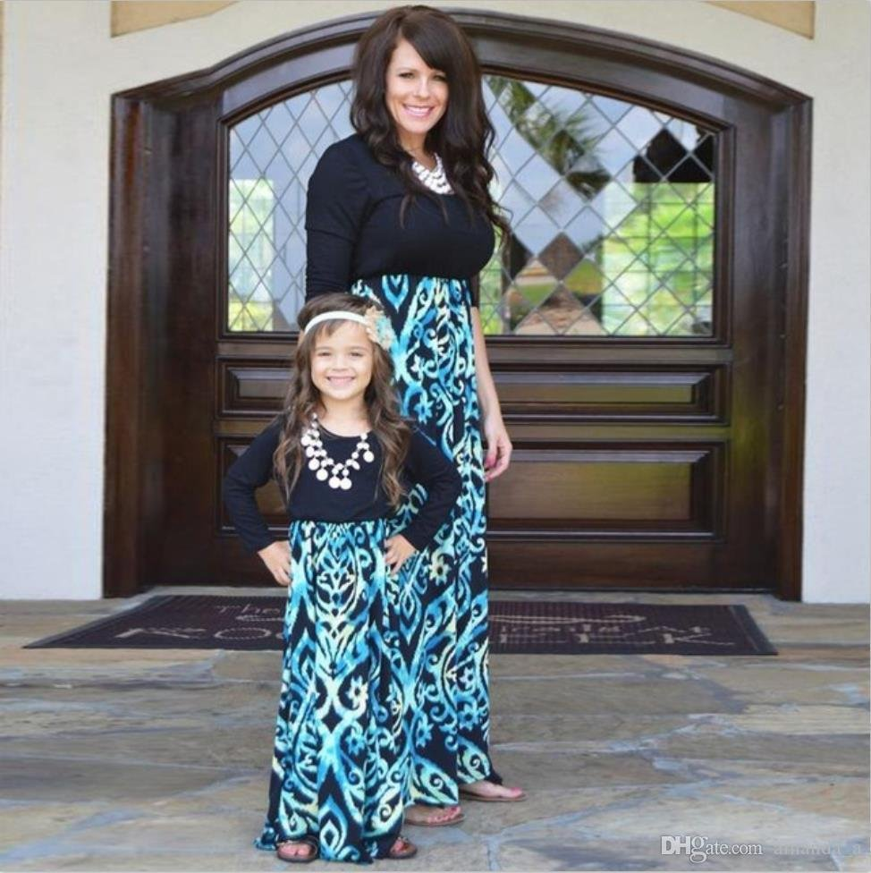2017-hot-sale-floral-printed-mother-and-daughter