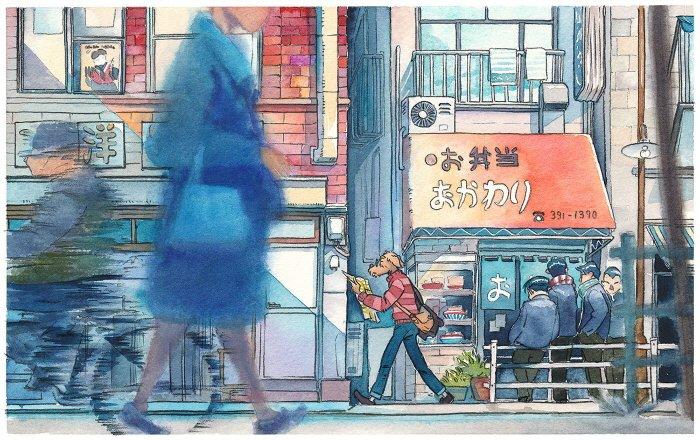 22 8 - 폴란드 작가가 수채화로 완성한 도쿄 일상 일러스트 (+25)