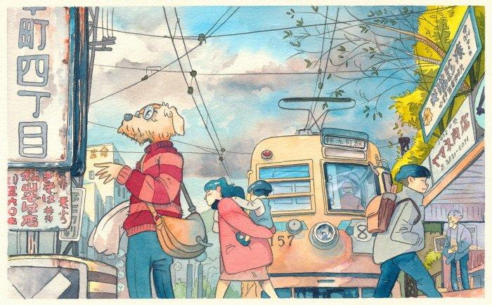 24 5 - 폴란드 작가가 수채화로 완성한 도쿄 일상 일러스트 (+25)