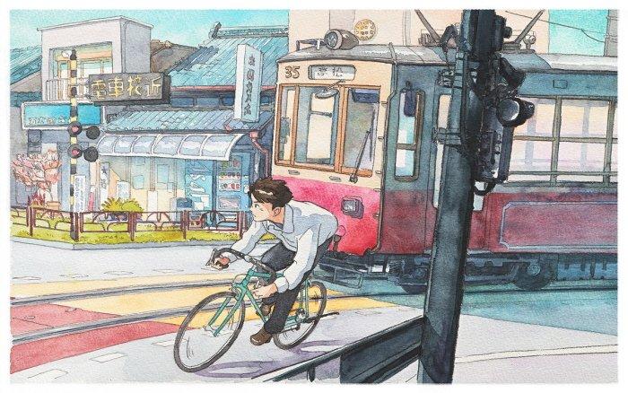 5 41 - 폴란드 작가가 수채화로 완성한 도쿄 일상 일러스트 (+25)