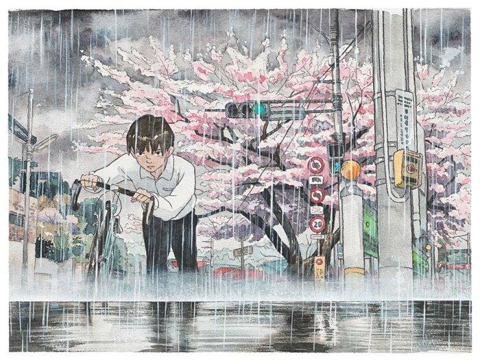 6 42 - 폴란드 작가가 수채화로 완성한 도쿄 일상 일러스트 (+25)