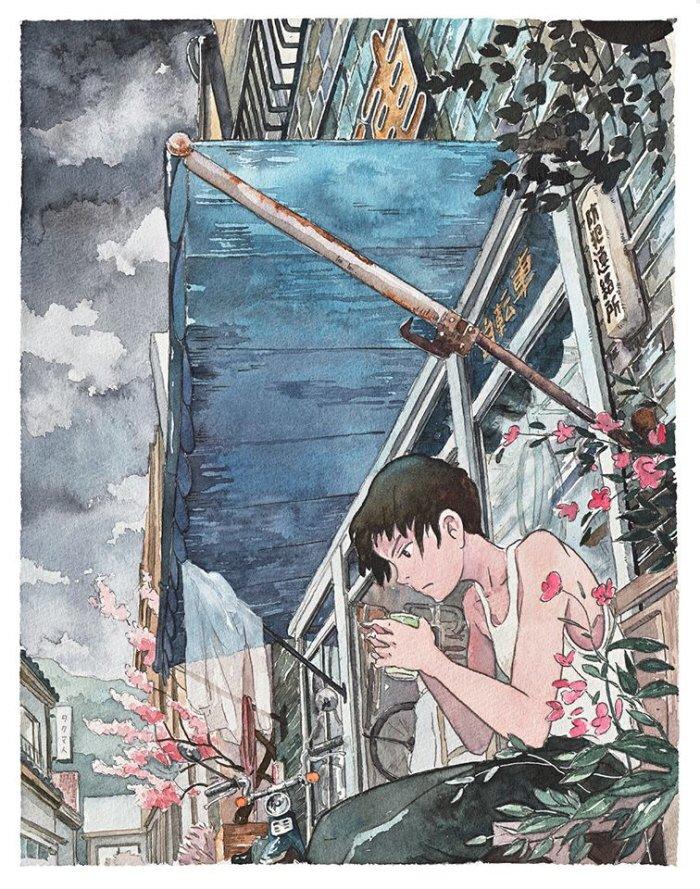 7 42 - 폴란드 작가가 수채화로 완성한 도쿄 일상 일러스트 (+25)