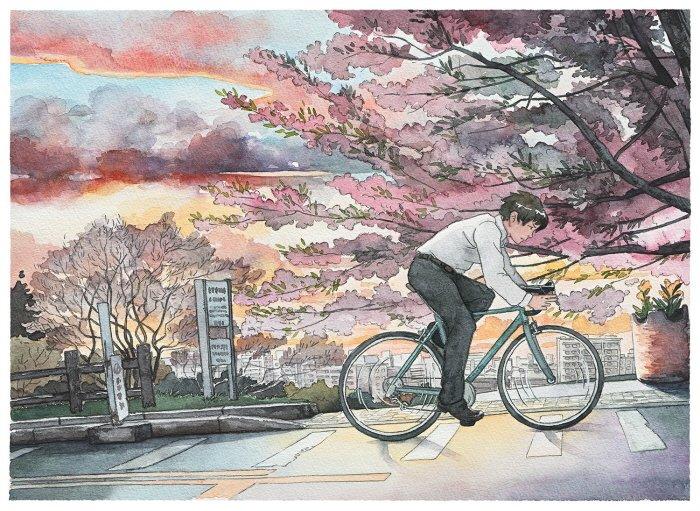 8 40 - 폴란드 작가가 수채화로 완성한 도쿄 일상 일러스트 (+25)