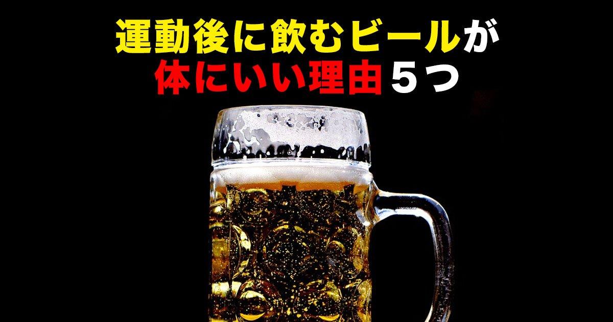 88 50 - 運動後に飲むビールが体にいい理由5つ