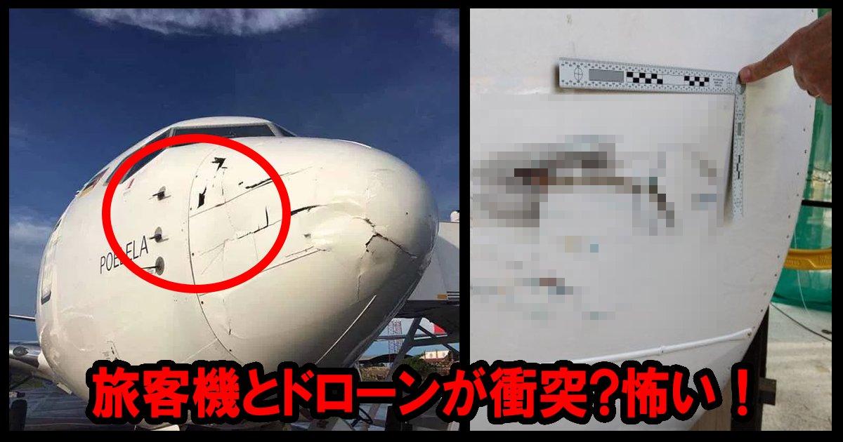 airplane ttl 1.jpg?resize=412,232 - 旅客機とドローンが衝突!幸い「軽い損傷」で無事着陸