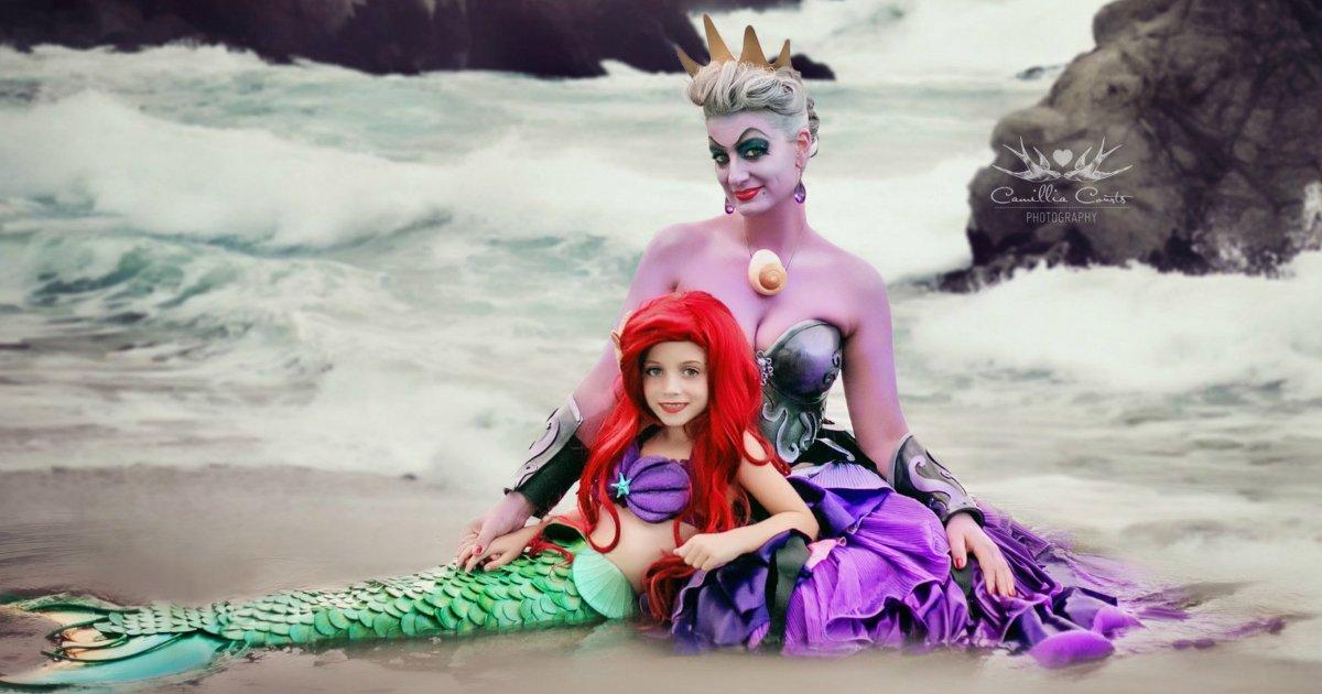camillia courts 2.jpg?resize=1200,630 - Mãe e filha fazem cosplay de princesas e vilãs famosas da Disney