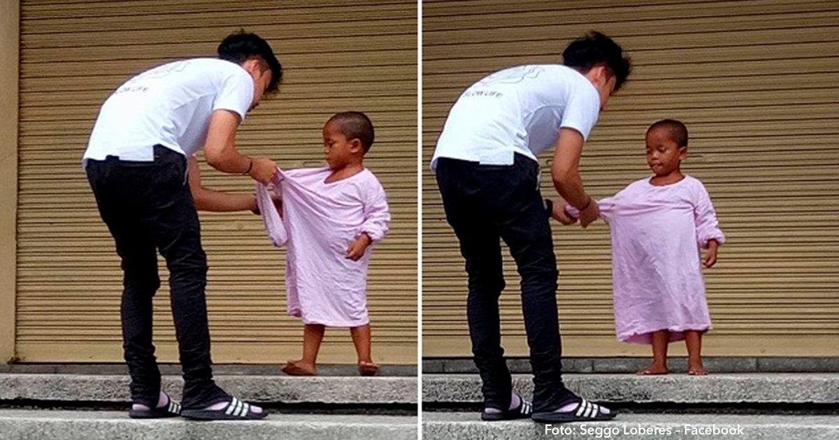 cover 19.png?resize=1200,630 - Encontraron a un pequeño niño desnudo en la calle y su gesto de bondad fue increíble.