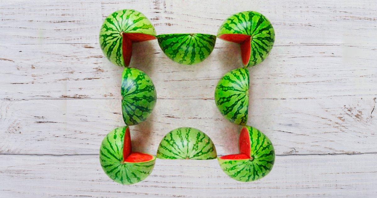 cver 1 - Quantas melancias você pode ver nesta imagem?