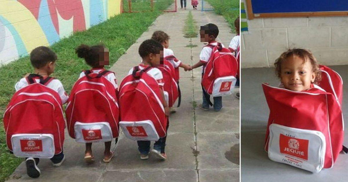 eab1b0eb8c80eab080ebb0a9eb93b1eab590.jpg?resize=1200,630 - '거대 가방'메고 등교하는 꼬마 학생들의 모습에 얽힌 훈훈한 사연