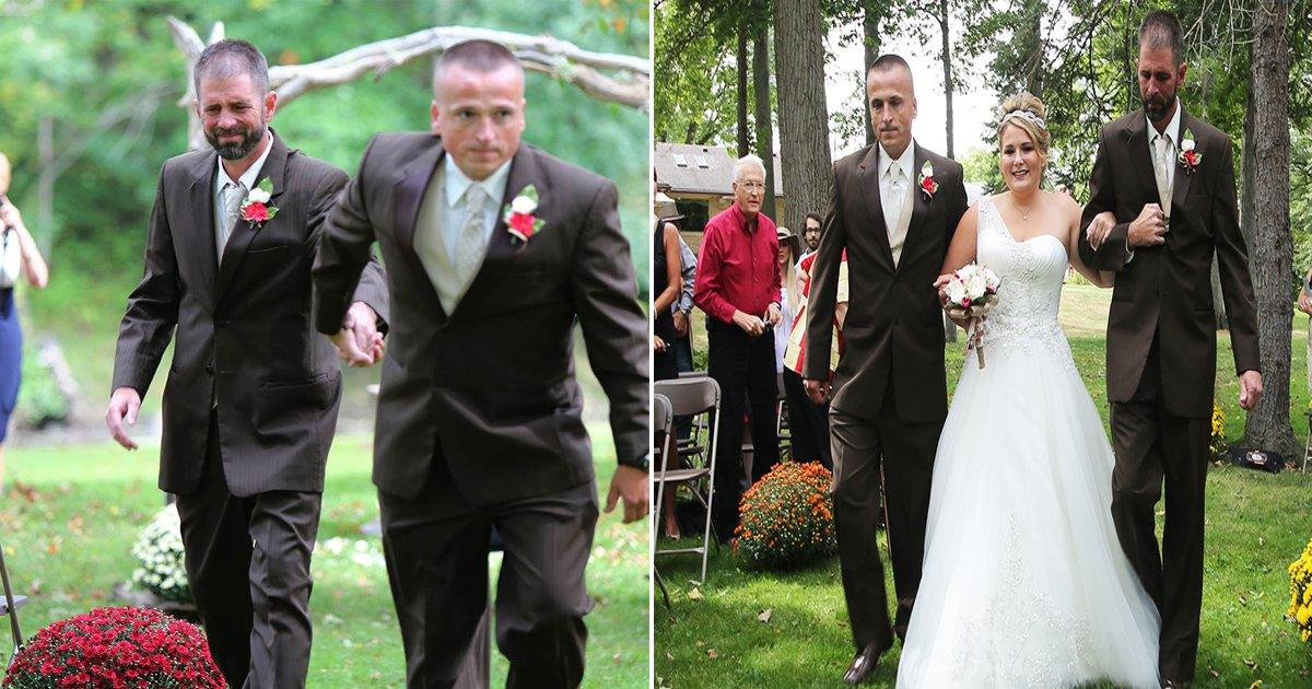 eab2b0ed98bcec8b9dec9584ebb9a0eb9190ebaa85.jpg?resize=1200,630 - 결혼식에서 '세 명'이 결혼 행진을 같이 하게 된 감동 사연