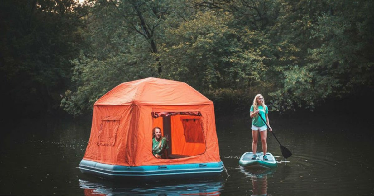 floating tent - A Floating Tent Like This Is Every Camper's Nightmare Solved Or Dream Achieved