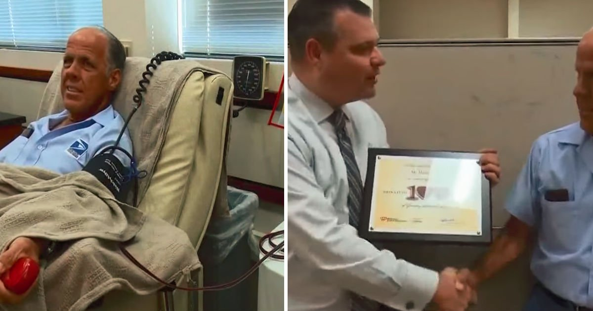 mailman blood donate - Mailman Sneaks Away For Two Hours For Every Two Weeks. A His Secret Schedule Hits The Headline 34 Years Later